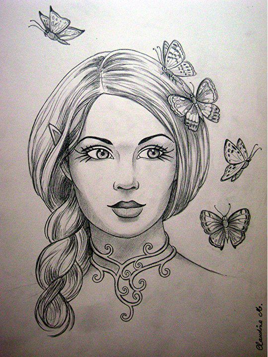 Drawn elf pencil drawing #9