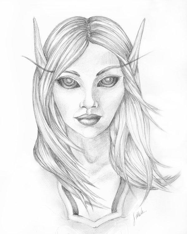 Drawn elf pencil drawing #11