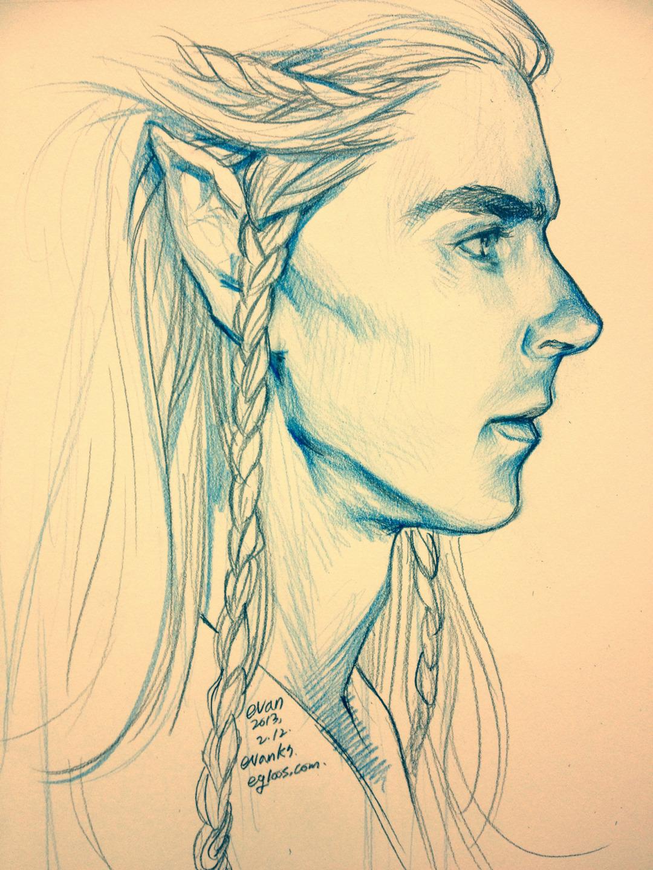 Drawn elf pencil drawing #10