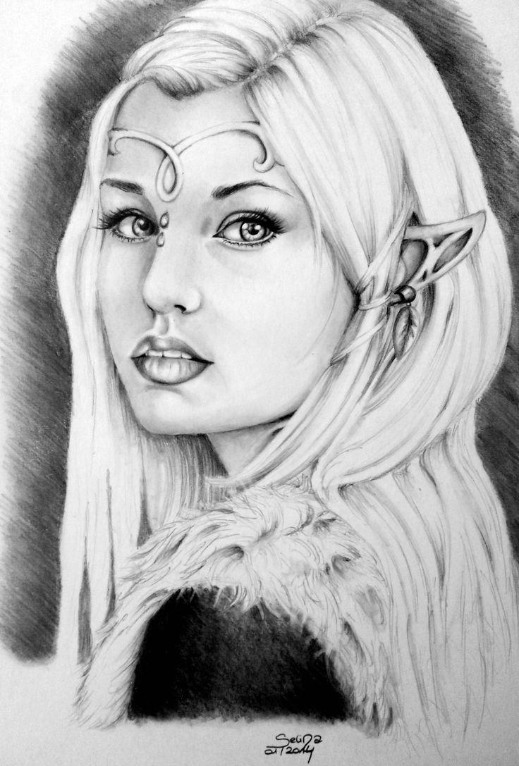 Drawn elf pencil drawing #6