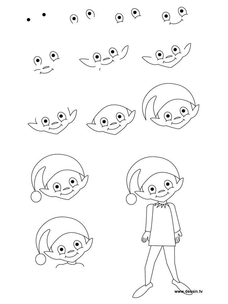 Drawn tie Step to how learn images