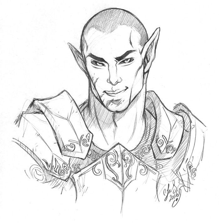 Drawn elf wood elf #4