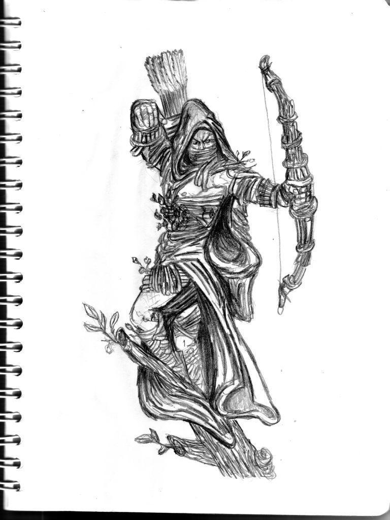 Drawn elf wood elf #2