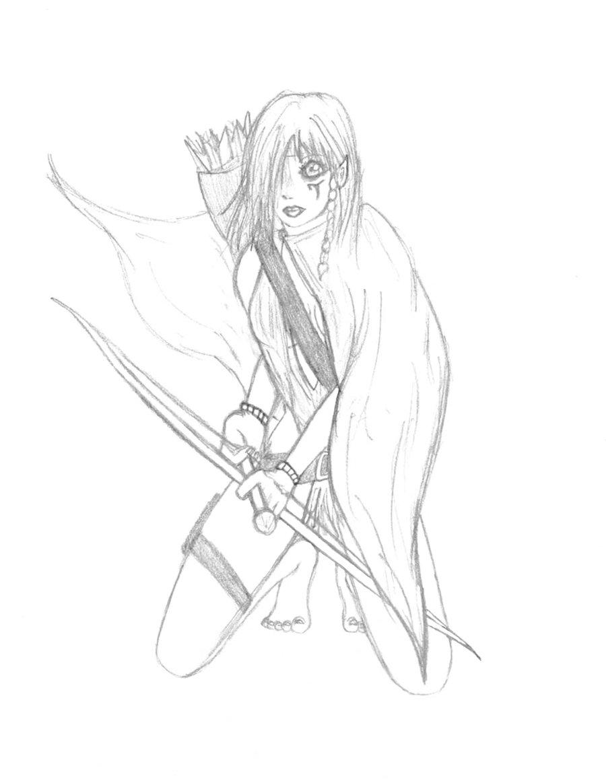 Drawn elf wood elf #3