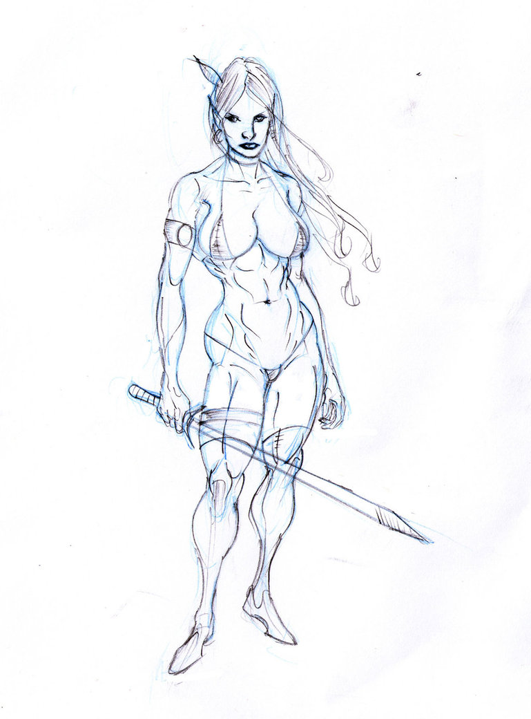Drawn elf wood elf #15