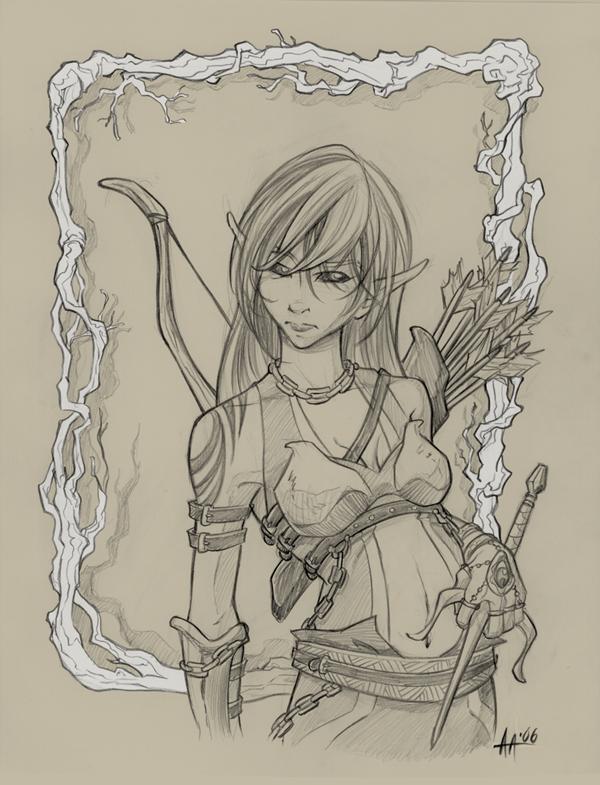 Drawn elf wood elf #8