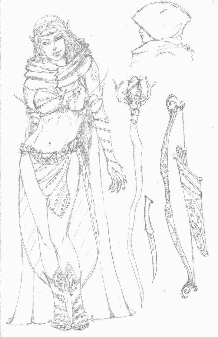 Drawn elf wood elf #11
