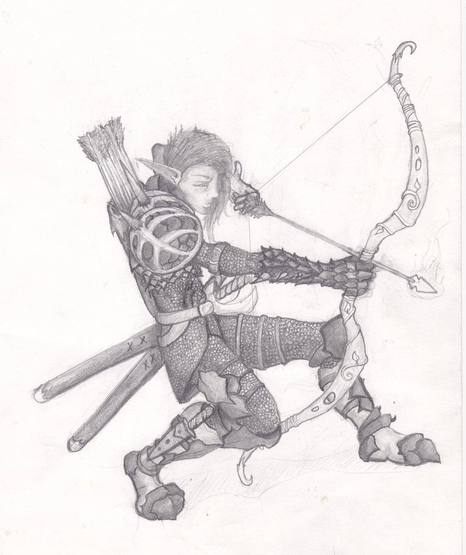 Drawn elf wood elf #6