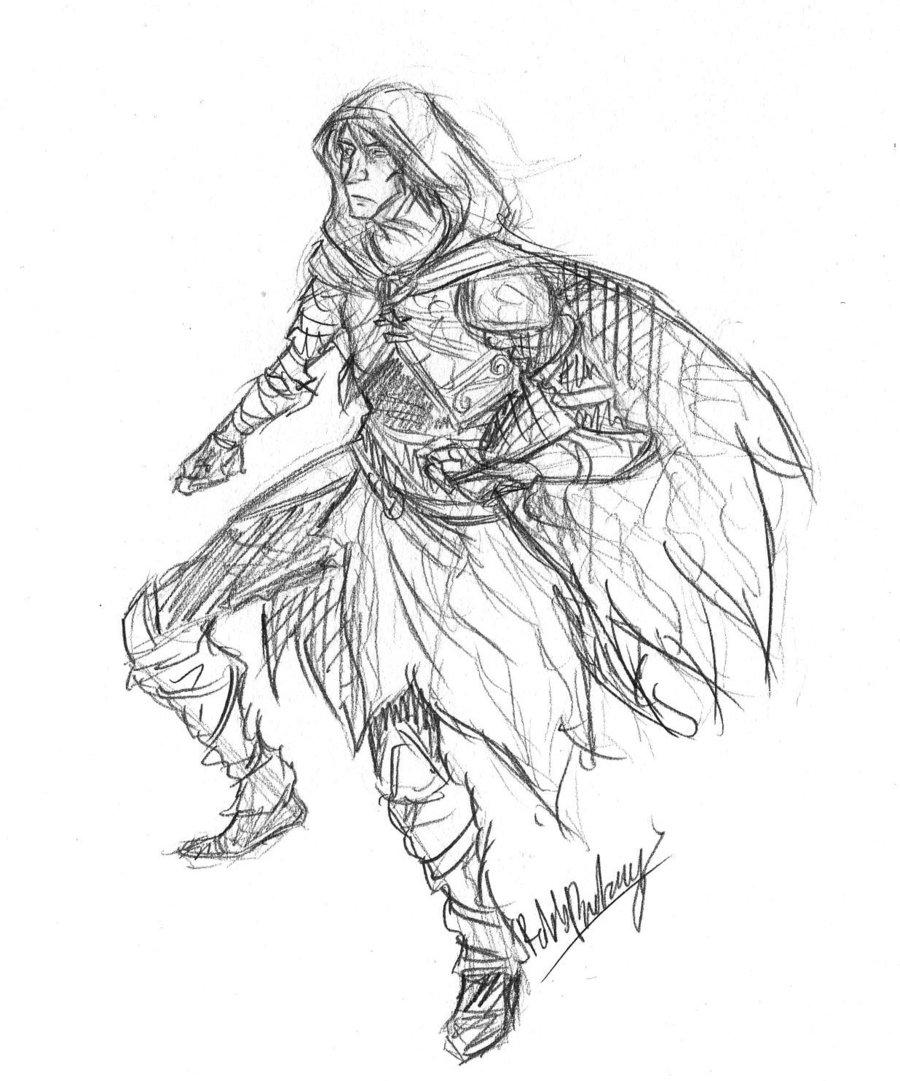Drawn elf wood elf #9