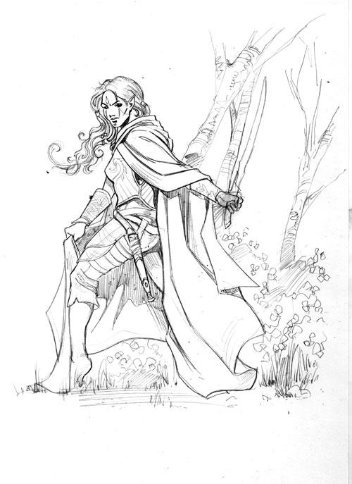 Drawn elf wood elf #10