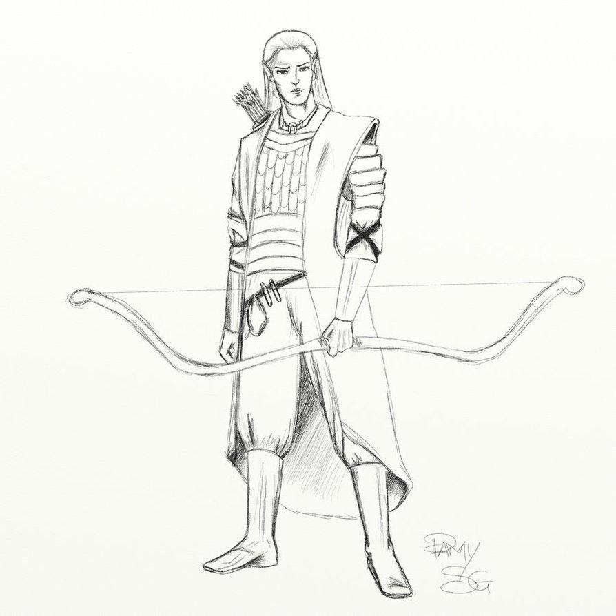 Drawn elf wood elf #13