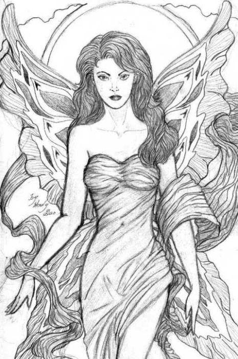Drawn elfen pretty angel #5