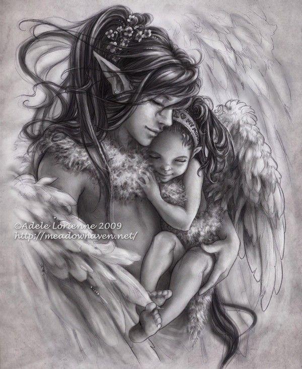 Drawn elfen pretty angel #9