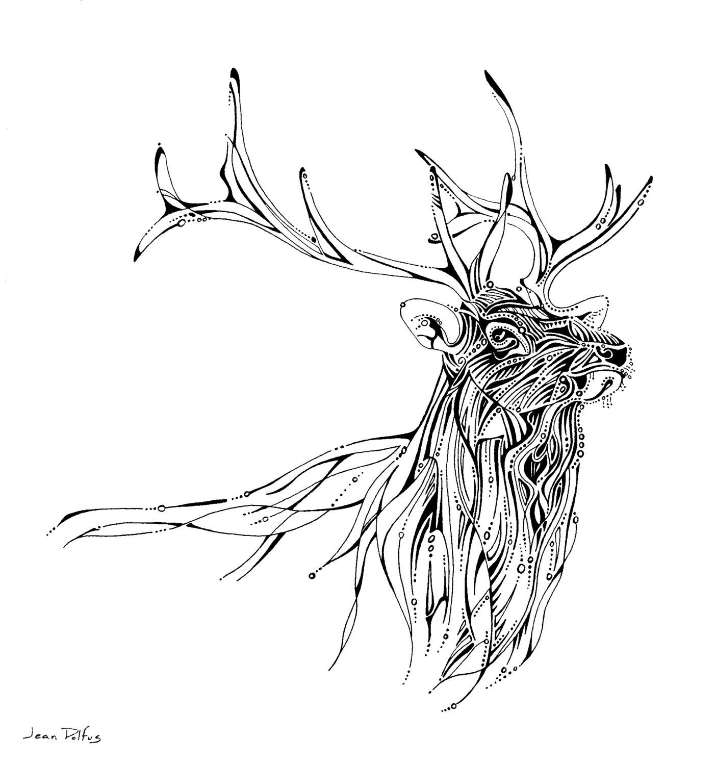 Drawn elk Etsy drawing drawing illustration artwork