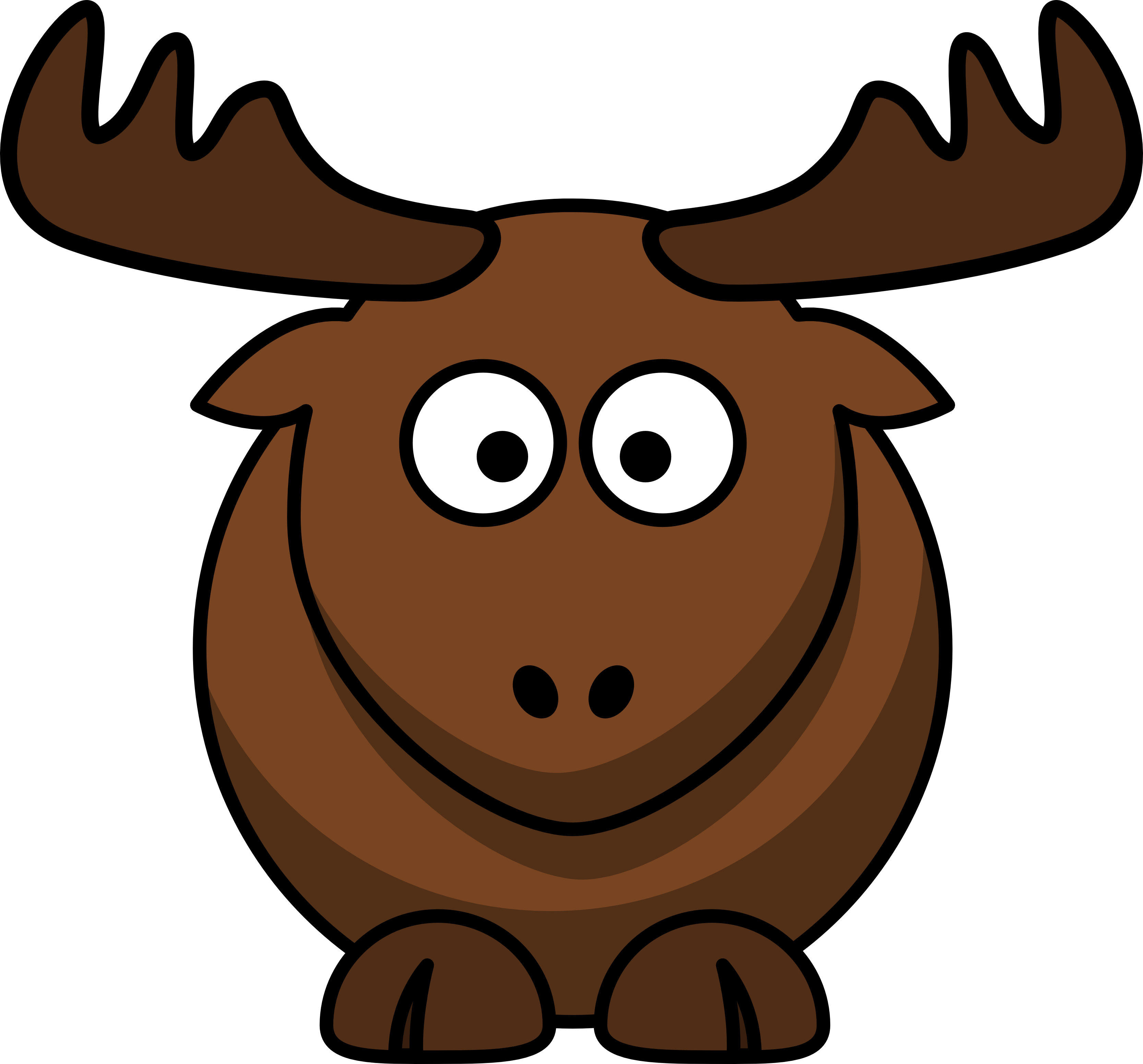 Moose clipart sad #1