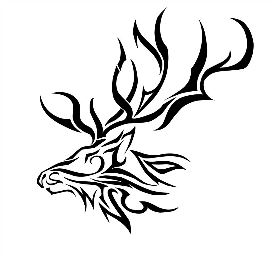 Drawn reindeer tribal Jpg Pinterest pixels Ink! Elk_Tribal_by_Dynasthai