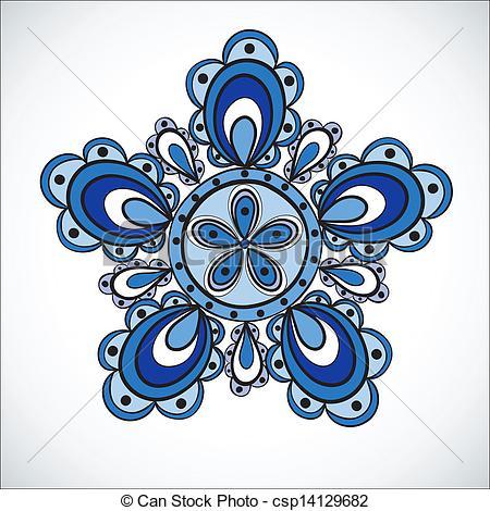 Blue Flower clipart flower pattern Csp14129682 csp14129682 pattern drawn Hand