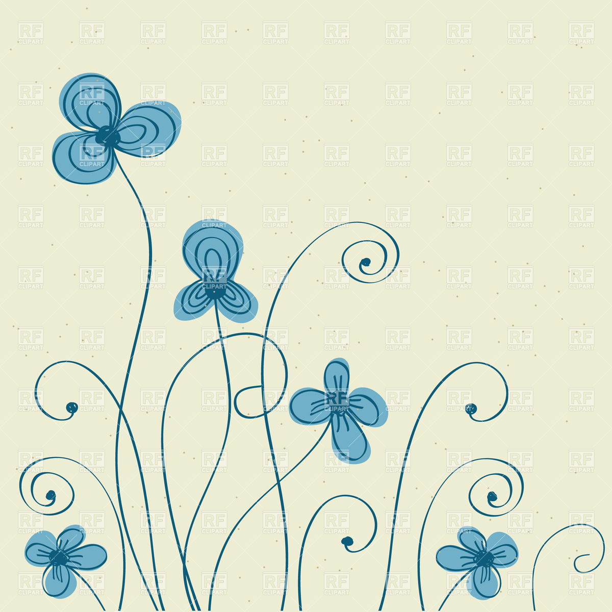 Blue Flower clipart drawing Pinterest Lettering draw Search flowers