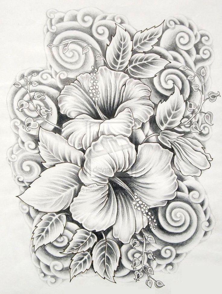 Drawn plant beautiful flower Hawaiian 25+ drawing Drawings Pinterest
