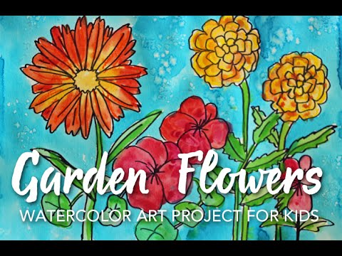 Drawn butterfly the garden drawing Flowers Garden Garden Draw to
