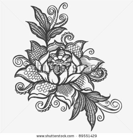Drawn photos lace flower Http://image for FlowersLotus shutterstock Image