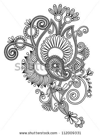 Drawn photos lace flower Ukrainian art line line flower