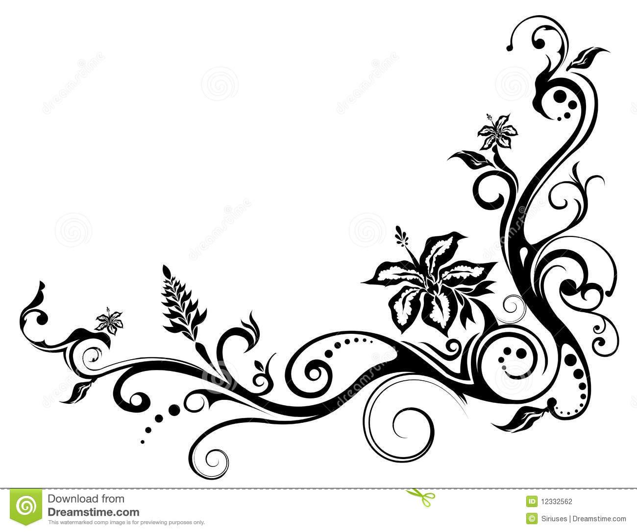 Drawn vine artistic #3