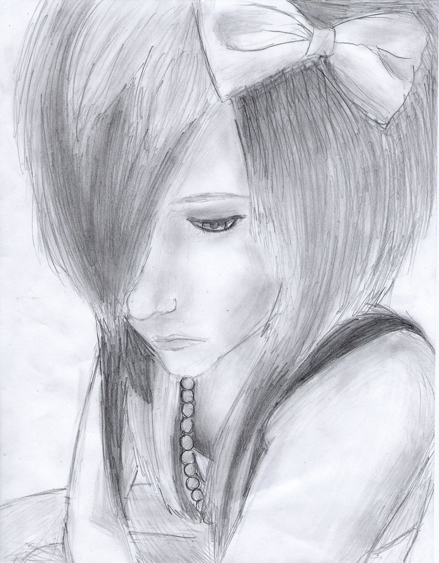 Drawn emo Drawing Girl LuCkYrAiNdRoP Scene by