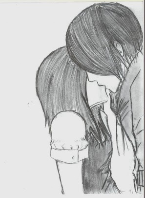 Drawn emo Pinterest Love drawing couple Kissing