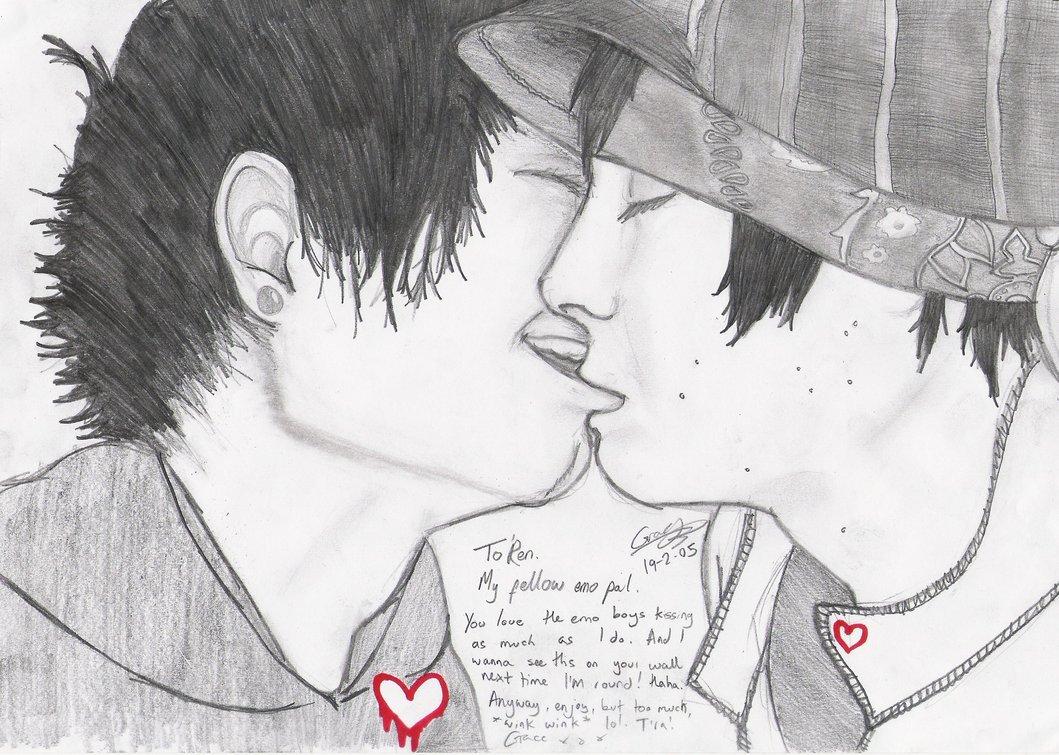 Drawn emo Girl graceless DeviantArt Kissers on