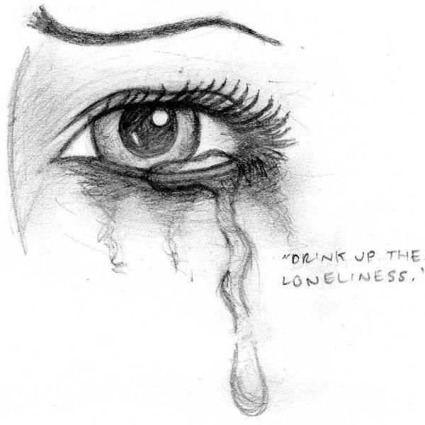 Drawn sad sad eye Crying Best ideas CryForAudience Eye