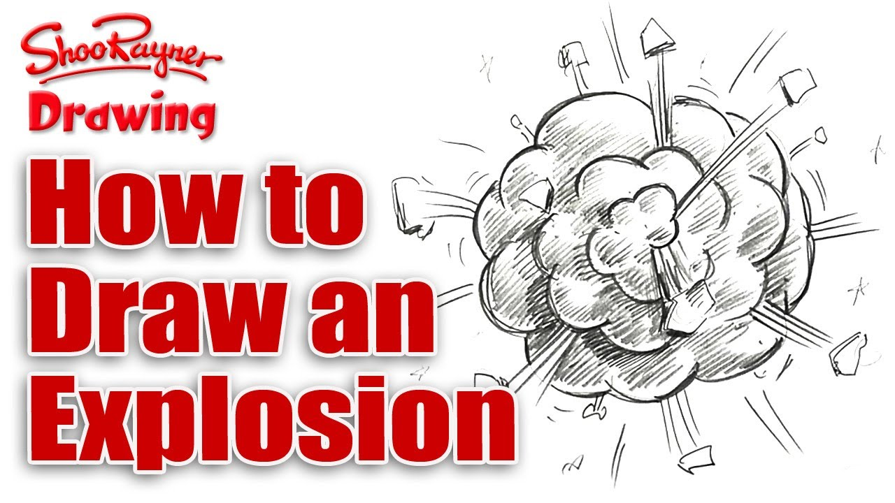 Drawn explosions How explosion cartoon draw a