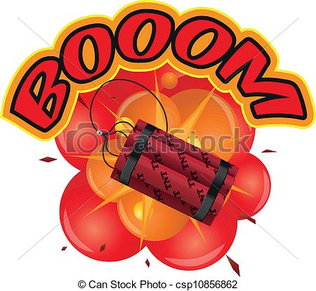 Comic clipart dynamite explosion Art illustration boom tnt tnt