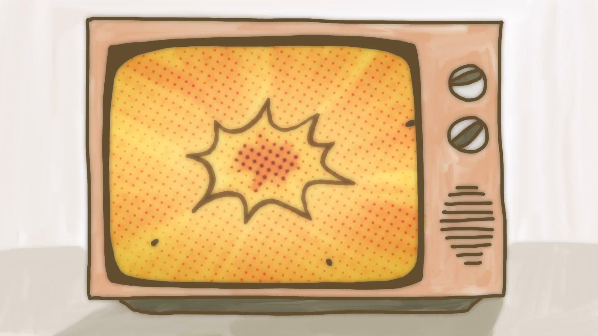 Drawn tv In Comic explosion in TV