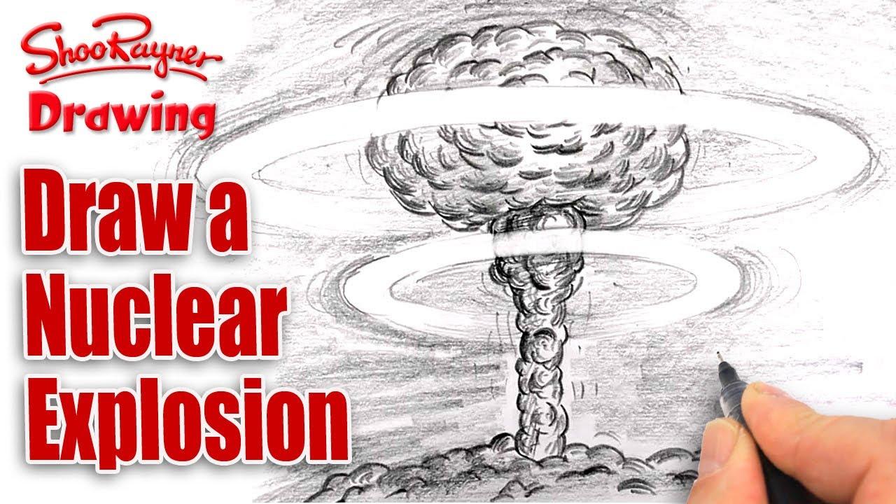 Drawn mushroom Explosion a Cloud tutorial How