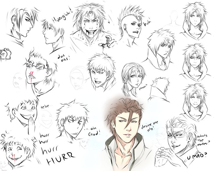 Drawn expression References/Tutorials Head drawing best