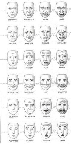 Drawn expression Good death B emotions: evil