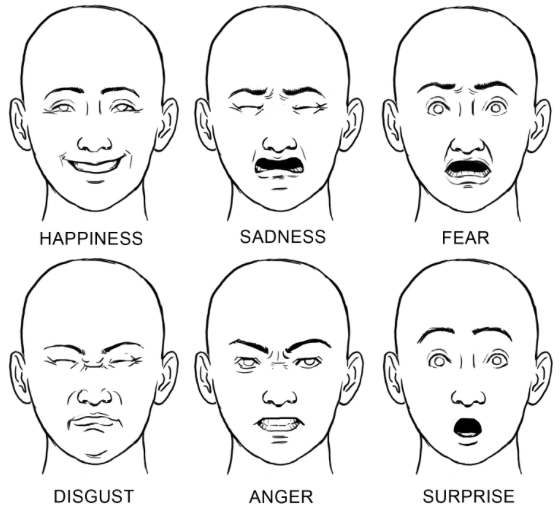Drawn expression Serious So face Tips Expressive