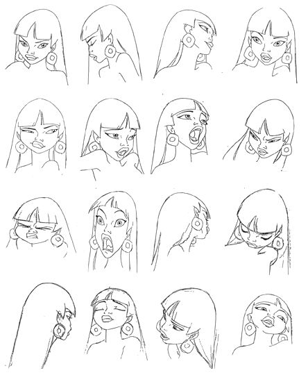 Drawn road animated  Expression Animation sheet DreamWorks