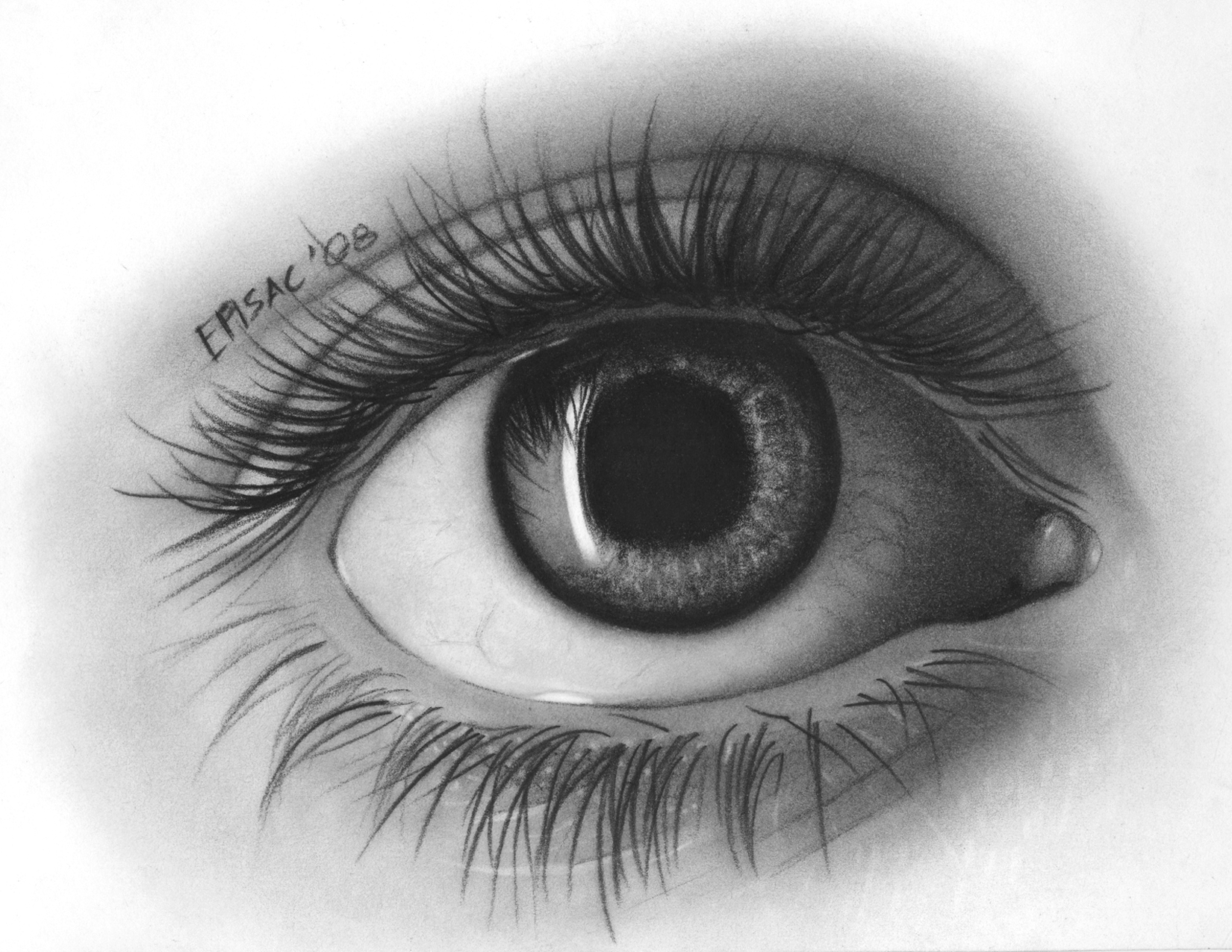 Drawn eyeball black and white Crafts Pinterest & really Art(s)