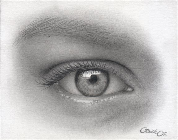 Drawn eye Drawing Eye by 13 Step