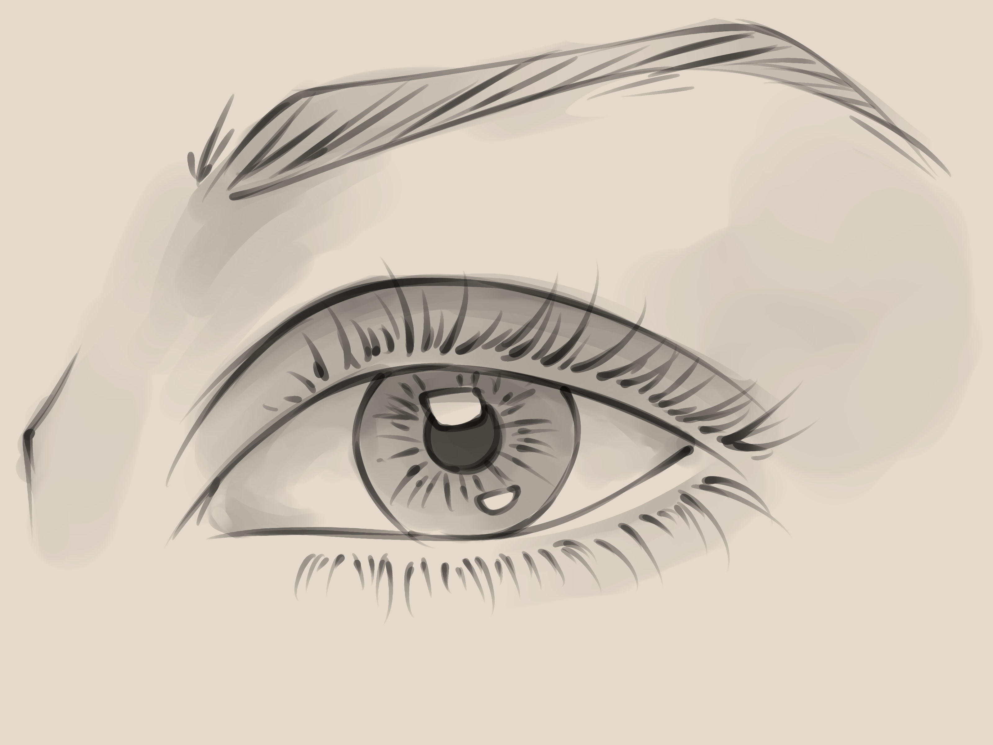 Drawn eye Draw Female to 10