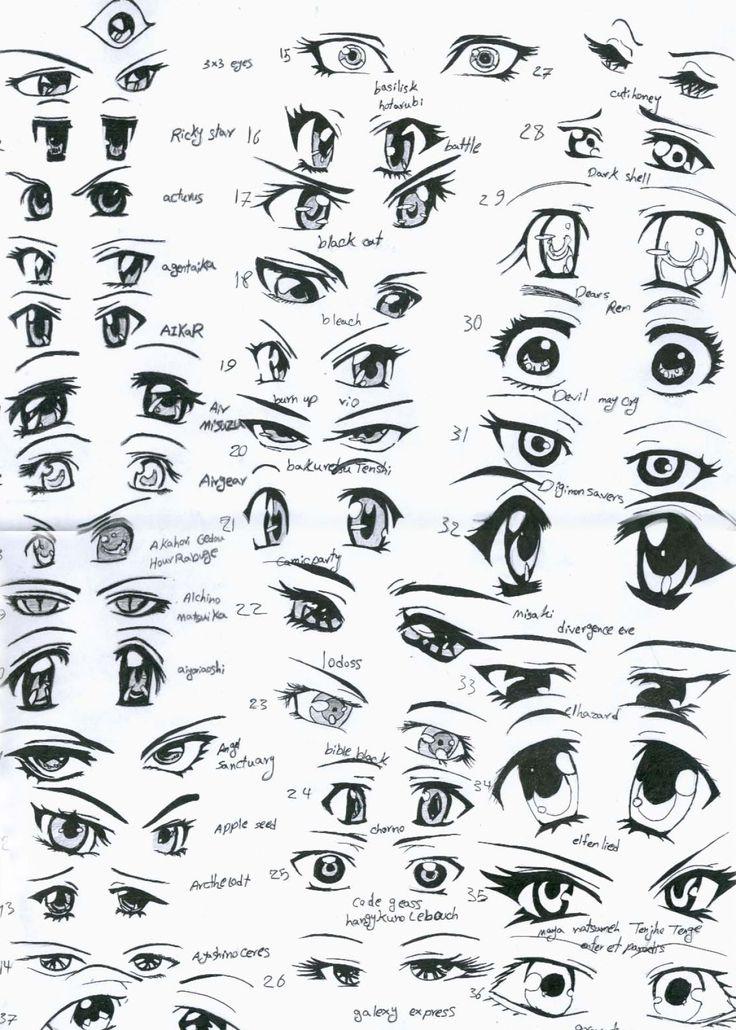 Anime clipart man eye Best on Pinterest ideas Anime
