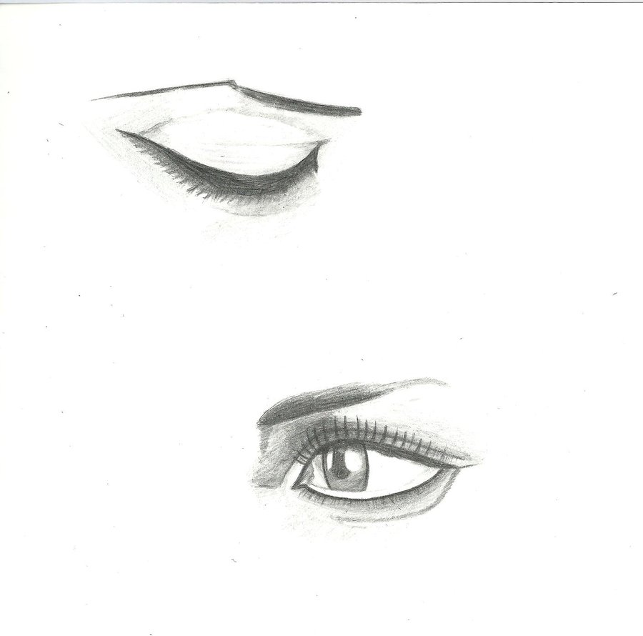 Drawn eye closed Closed Guide Side Best Collections