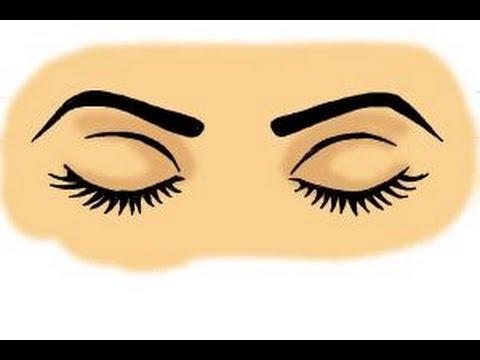 Drawn eye closed Draw closed eyes How YouTube