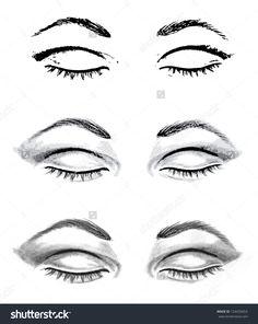 Drawn eye closed Drawings I  Eyes And