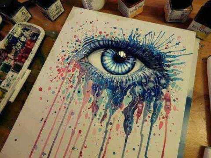 Drawn stare crayon Eyes Pinterest something 302 Art