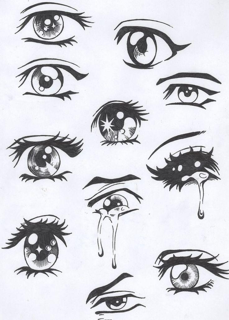 Drawn sad sad eye Crying Anime on best The