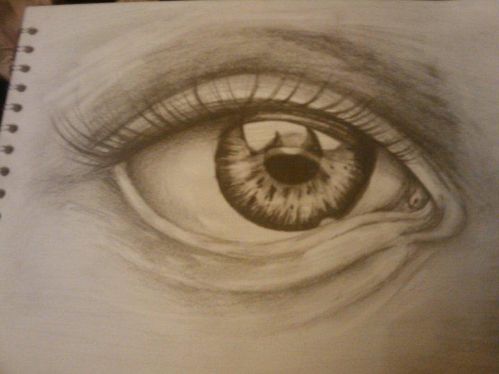 Drawn eye detailed #12