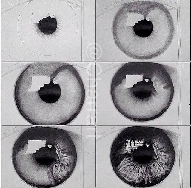 Drawn eye detailed #11